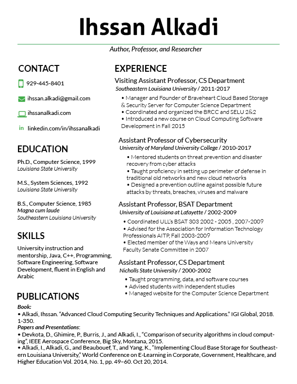 project manager resume samples resume dr ihssan alkadi windows resume templates word with summary section of - Windows Resume Templates